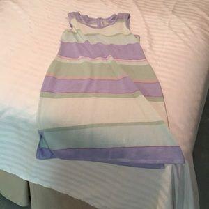 Sleeveless knit dress.